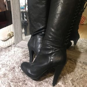 Knee high leather boots 7.5